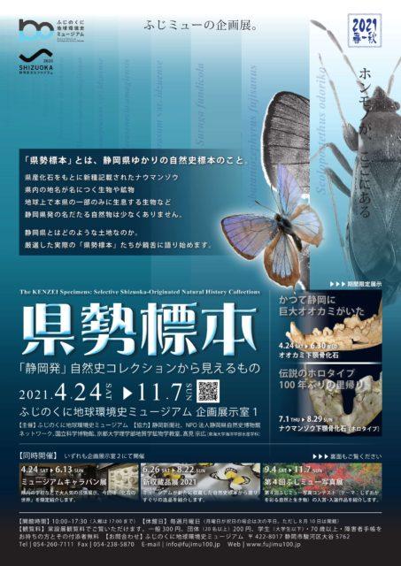 企画展「県勢標本「静岡発」自然史コレクションから見えるもの」